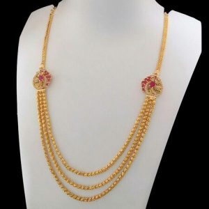 Stylish Latest Pearl Traditional Kundan Necklace Set Hell And Heaven