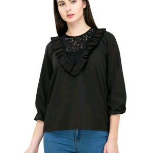 Black Trendy Designer Top